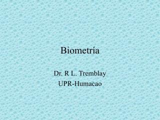 Biometr�a