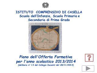 Piano dell'Offerta Formativa   per l'anno scolastico 2013/2014