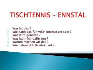 TISCHTENNIS - ENNSTAL