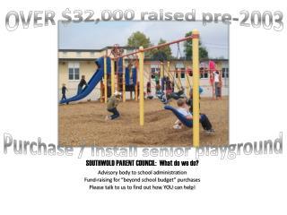 SOUTHWOLD PARENT COUNCIL:  What do we do?