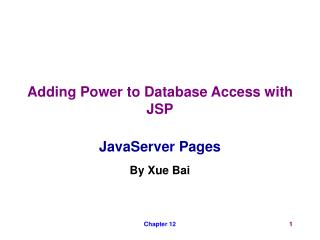 Adding Power to Database Access with JSP