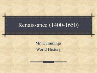 Renaissance 1400-1650