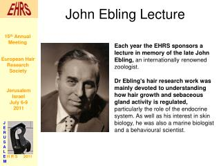 John Ebling Lecture