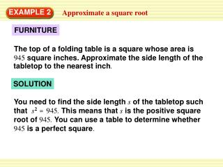 Approximate a square root