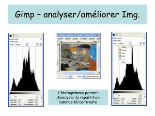 Gimp – analyser/améliorer Img.