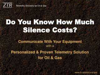 Do You Know How Much Silence Costs?