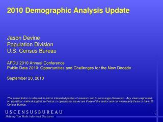 What is Demographic Analysis (DA)?