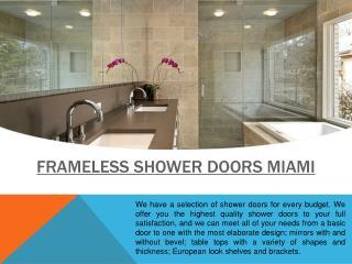 Shower Doors Fort Lauderdale