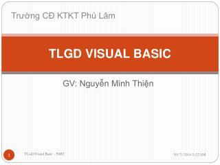 TLGD VISUAL BASIC