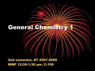General Chemistry 1
