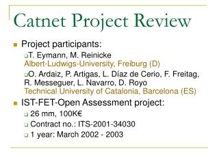 Catnet Project Review