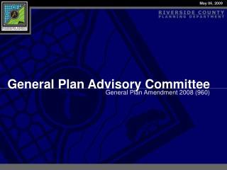 General Plan Advisory Committee