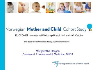Margaretha Haugen Division of Environmental Medicine, NIPH