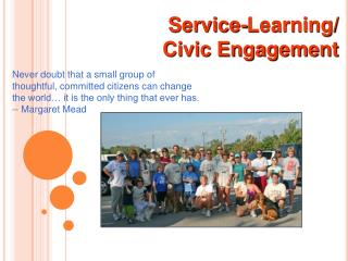 Service-Learning/  Civic Engagement
