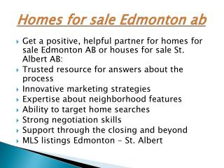 houses for sale Edmonton ab