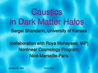 Caustics  in Dark Matter Halos