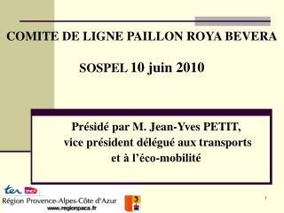 COMITE DE LIGNE PAILLON ROYA BEVERA SOSPEL  10 juin 2010