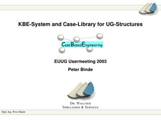 KBE-System and Case-Library for UG-Structures EUUG Usermeeting 2003 Peter Binde