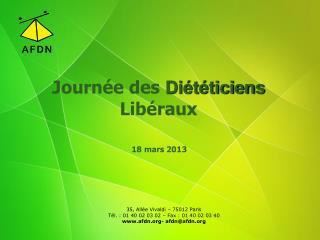 Journée des  Diététiciens Libéraux