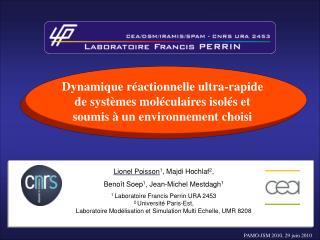 Lionel Poisson 1 , Majdi Hochlaf 2 ,  Benoît Soep 1 , Jean-Michel Mestdagh 1