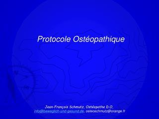 Protocole Ostéopathique
