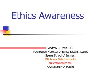 Ethics Awareness