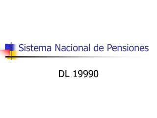 Sistema Nacional de Pensiones