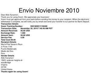 Envio Noviembre 2010