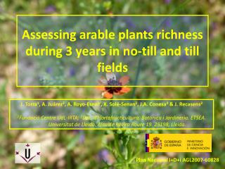 Assessing arable plants richness during 3 years in no-till and till fields