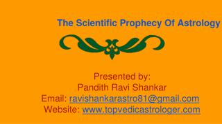 The Scientific Prophecy Of Astrology