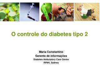 O controle do diabetes tipo 2