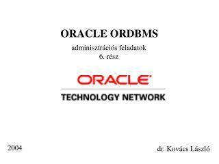 ORACLE ORDBMS