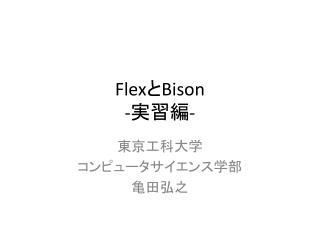 Flex と Bison - 実習編 -