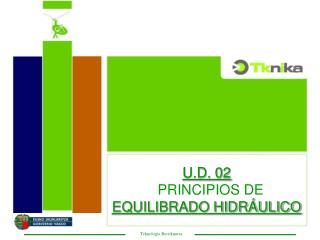 U.D. 02   PRINCIPIOS DE  EQUILIBRADO HIDRÁULICO