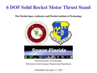 6 DOF Solid Rocket Motor Thrust Stand   The Florida Space Authority and Florida Institute of Technology