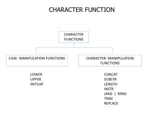 CHARACTER FUNCTION