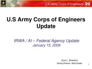 U.S Army Corps of Engineers Update