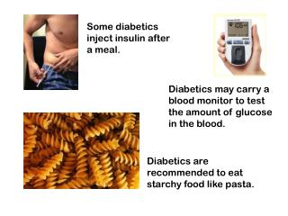 Some diabetics inject insulin after a meal.