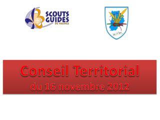 Conseil Territorial  du 16 novembre 2012
