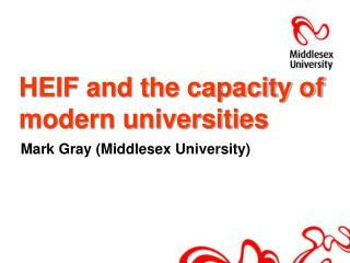 HEIF and the capacity of modern universities