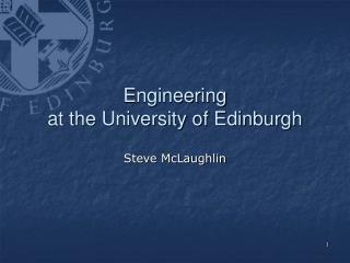 Engineering at the University of Edinburgh