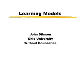 Learning Models