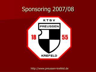 Sponsoring 2007/08