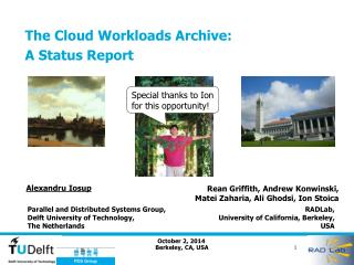 The Cloud Workloads Archive: A Status  Report