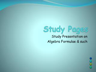 Study Pages
