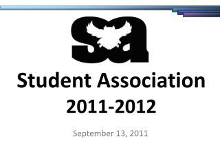Student Association 2011-2012