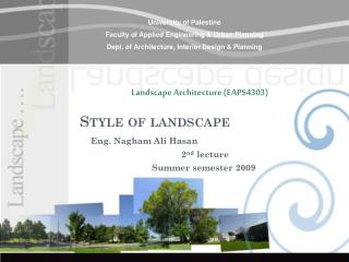 Style of landscape