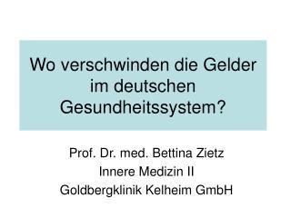 Wo verschwinden die Gelder im deutschen Gesundheitssystem