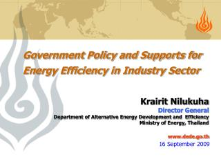 Government Policy and Supports for Energy Efficiency in Industry Sector