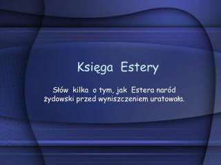 Księga  Estery